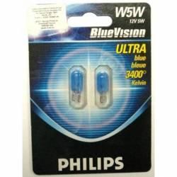 BOMB 158 MUELA 12V T10 W5W 1C BLUE VISION PHILIPS BLIST 2U