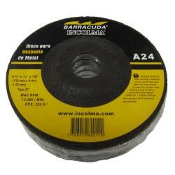 DISCO PARA DESBASTE DE METAL A24 4-1/2´´ X 1/4´´ X 7/8´´